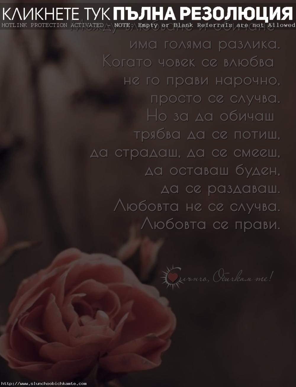 Между влюбване и обичане има голяма разлика - Любовта не се случва, любовта се прави