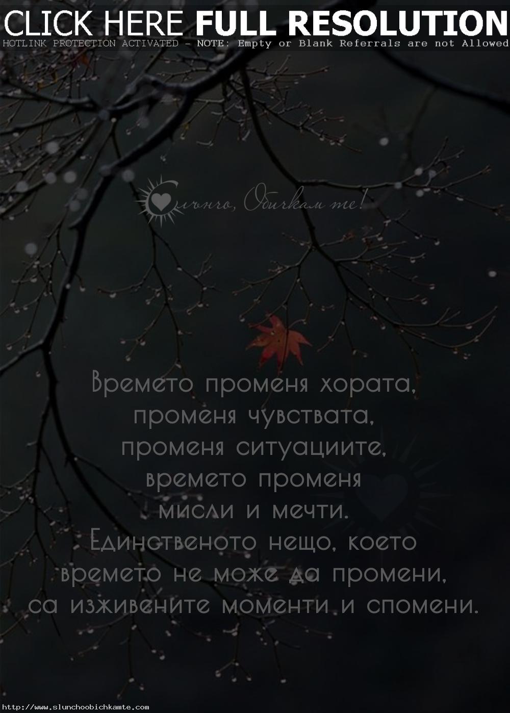 Времето променя хората, променя чувствата, променя ситуациите, времето променя мисли и мечти. Единственото нещо, което времето не може да промени, са изживените моменти и спомени... - Любов, любовни статуси, любовни мисли, любовни фрази, любовни цитати