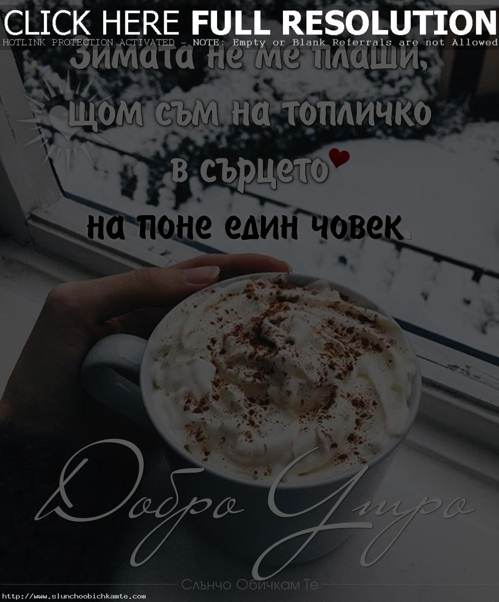 Зимата не ме плаши, щом съм на топличко в сърцето на поне един човек. Добро утро! - Коледа 2019, пожелания за добро утро, коледни пожелания, коледни статуси, коледни цитати, коледни мисли, коледни фрази, добро утро зима, добро утро сняг, добро утро кафе, добро утро в сряда, понеделник, петък, студено добро утро