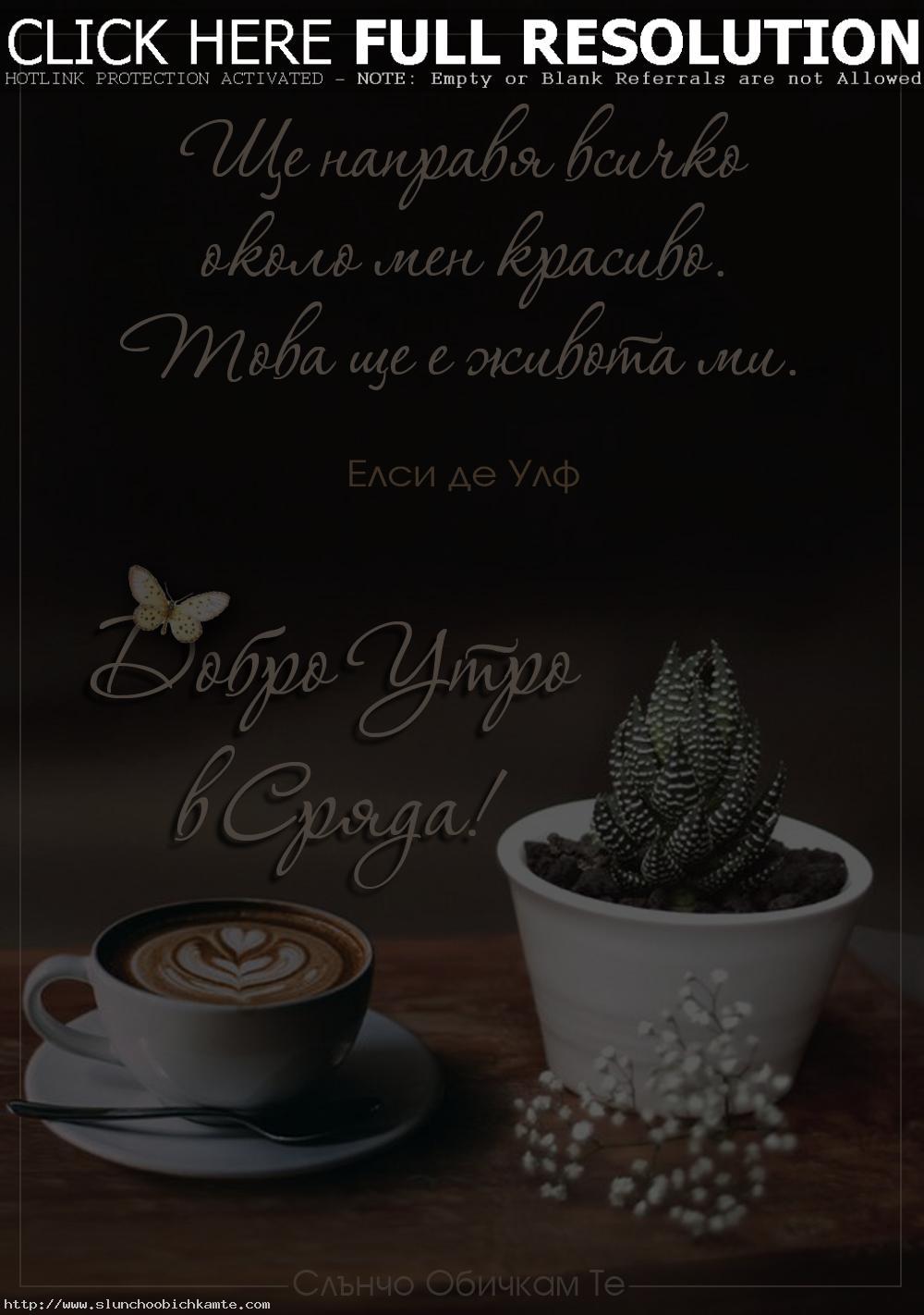 Добро утро в сряда, с цитат на Елси де Улф - пожелания за добро утро